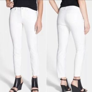 Eileen Fisher White Cropped Skinny Jeans Size 8P